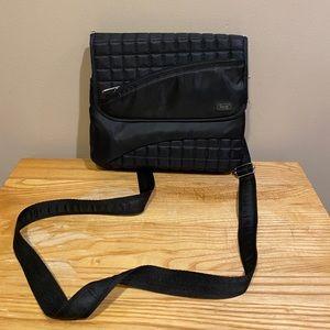 Lug Black Long Strap Shoulder Length Purse
